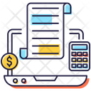 Budget Income Report Accounting Icon