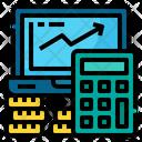 Calculator Laptop Coin Icon