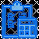 Clipboard Checklist Calculator Icon