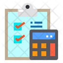 Clipboard Checklist Calculator Icon