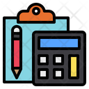 Clipboard Calculator Management Icon