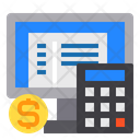 Computer Currency Calculator Icon