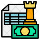 Accounting Bookkeeping Chess Icon
