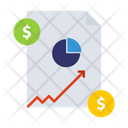 Accounting Coin Graph Icon