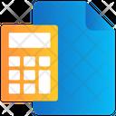 File Calculator Sheet Icon