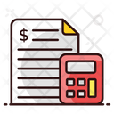 Accounting File Business Calculations Cost Estimation Icon