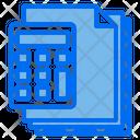 Calculator Files Paper Icon