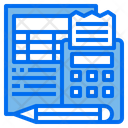 Accounting File Bookkeeping Accounting Icon