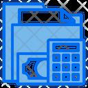 Folder Money Calculator Icon
