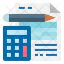 Accounting Report Account File Bookkeeping Icon