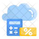 Accounting Cloud Financial Icon