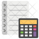 Calculations Accounting Finance Book Icon