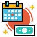 Accounts Budget Planning Calendar Icon