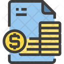 Money Accounts File Accounting Icon