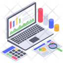 Business Monitoring Accounts Monitoring Data Analysis Icon