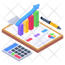 Budget Accounting Accounts Report Business Calculation Icon
