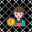 Euro Coin Avatar Icon