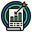 Accuracy Of Statistics Statistical Analysis Goal Icon