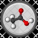 Acetic Acid Molecule Icon