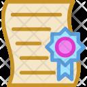 Achievement Award Certificate Icon