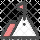 Achievement Goal Mountain Icon