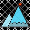 Achievement Success Mountain Icon