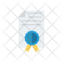 Achievement Approved Certificate Icon