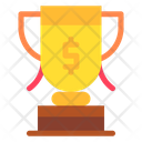 Achievement Trophy Money Icon