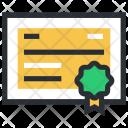 Achievement Certificate Certification Icon
