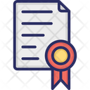 Achievement Certificate Icon
