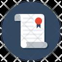 Achievement Certificate Icon