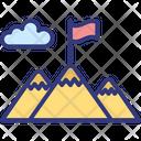Goal Mission Mountain Flag Icon
