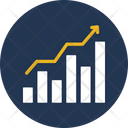 Achieving Goals Bar Graph Chart Icon