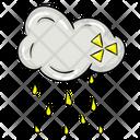 Acid Rain Chemical Rain Rainfall Icon