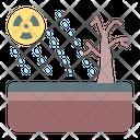 Acid Rain Contamination Icon