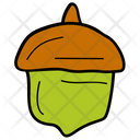 Acorn Oak Nut Wild Fruit Icon