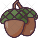 Acorn Organic Vegan Icon