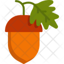 Acorn Autumn Food Icon