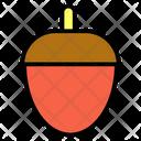 Food Acorn Autumn Icon
