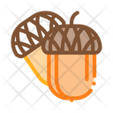 Acorn Nut Food Icon