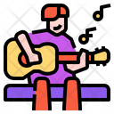 Play Acoustic Guitar Musical Icon