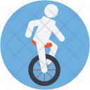 Acrobat Unicycle Wheel Icon