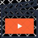 Action Cinema Clapboard Icon