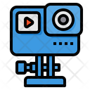 Action Camera Video Recording Streaming Icon