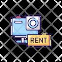 Camera Rental Service Icon