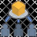 Customer Distribution Trading Icon