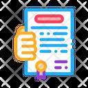 Activity Certificate Activity Certificate Icon
