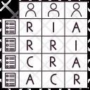 Actor Role Matrix Icon