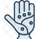 Point Spot Palm Icon