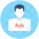 Ad Advertising Personal Icon